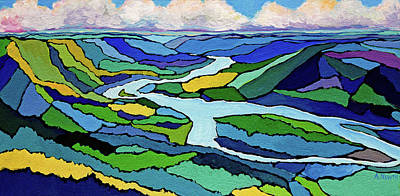 Wall Art - Painting - Peace River In Colour by Alison Newth