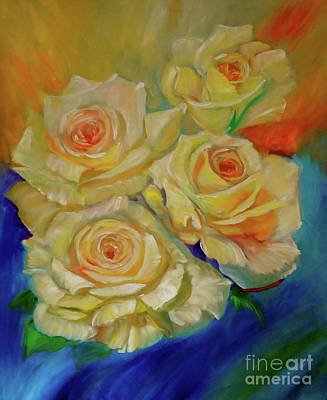 Painting - Peace Roses by Jenny Lee