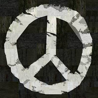 Digital Art - Peace - Rustic by Michelle Calkins