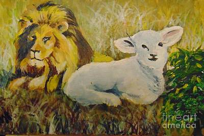 Art Print featuring the painting Peace by Saundra Johnson