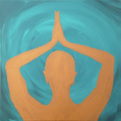 Painting - Peace Series- Anjali Mudra by Su Nimon