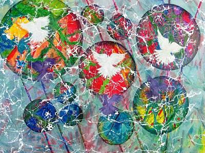 Peace Shadows The World Art Print by David Raderstorf
