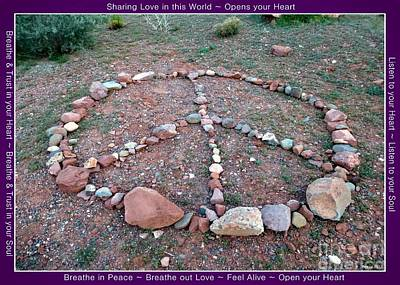 Photograph - Peace Sign Red Rocks Sedona by Marlene Rose Besso
