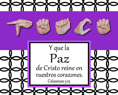 Peace Spanish - Bw Graphic Art Print