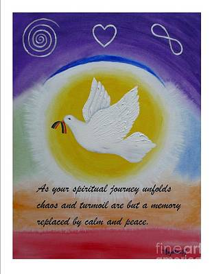 Painting - Peace - Spiritual Art Poster With A Message by Pat Heydlauff
