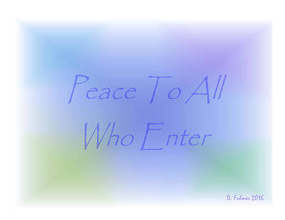 Painting - Peace To All Who Enter by Denise Fulmer