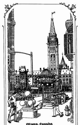 Peace Tower Parliament Hill Ottawa 1995 Art Print by John Cullen
