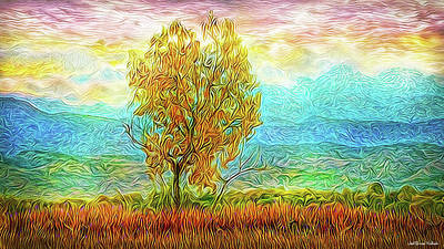Digital Art - Peace Tree Sunset by Joel Bruce Wallach