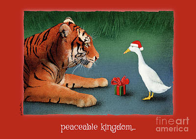 Painting - Peaceable Kingdom... by Will Bullas