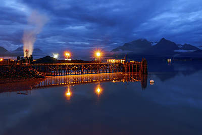 Refelctions Photograph - Peaceful Alaska Night by Ron Day