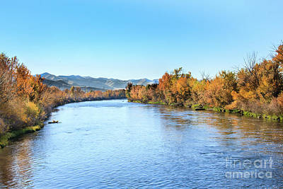 Photograph - Peaceful And Colorful Payette River by Robert Bales