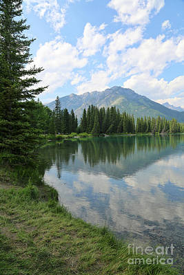 Photograph - Peaceful Banff Riverbank by Carol Groenen