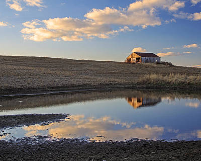 Peaceful Barn Reflection Art Print by Kevin Anderson