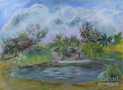 Painting - Peaceful Beach Area At Dubois Park In Jupiter by Donna Walsh