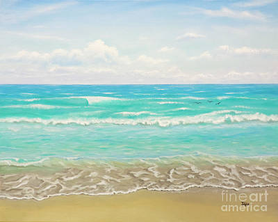 Painting - Peaceful Beach by Jimmie Bartlett