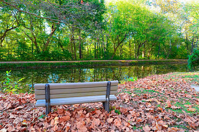 Photograph - Peaceful Bench On C And O Canal by Jeff at JSJ Photography