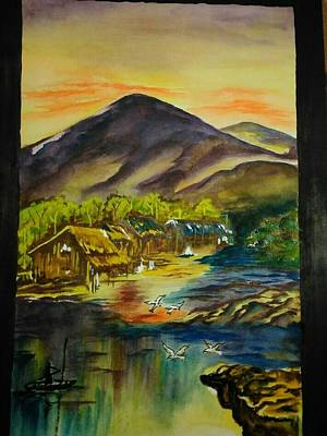 Peaceful Blanket Dusk Original by Pratima Biswas