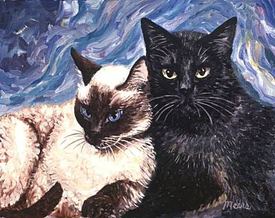 Sisters Painting - Peaceful Coexistence by Linda Mears