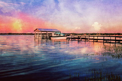 Photograph - Peaceful Dawn Over The Lake by Debra and Dave Vanderlaan