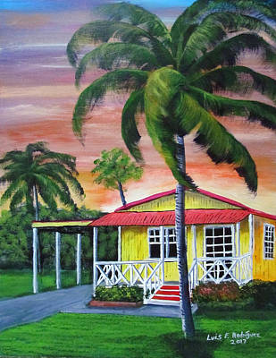 Painting - Peaceful Days by Luis F Rodriguez