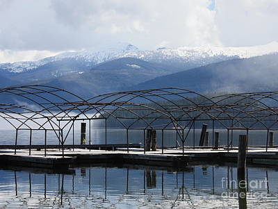 Photograph - Peaceful Docks At Priest Lake by Carol Groenen