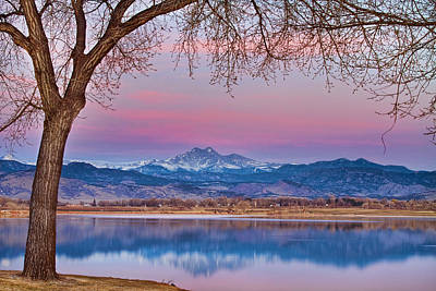 Bo Insogna Photograph - Peaceful Early Morning First Light Longs Peak View by James BO  Insogna
