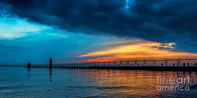 Photograph - Peaceful Evening At Grand Haven by Nick Zelinsky