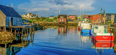 Shed Digital Art - Peaceful Evening At Peggys Cove by Ken Morris