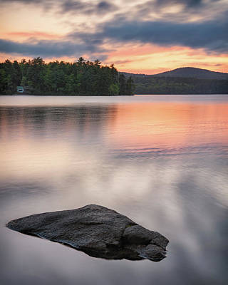 Photograph - Peaceful Evening On Bear Pond by Darylann Leonard Photography
