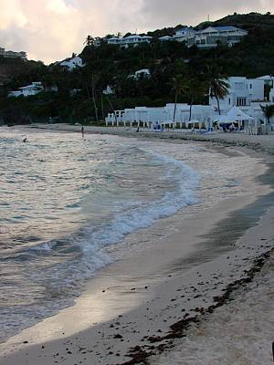 Art Print featuring the photograph Peaceful Evening On Dawn Beach by Margaret Bobb