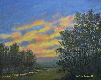 Painting - Peaceful Evening Sky by Kathleen McDermott
