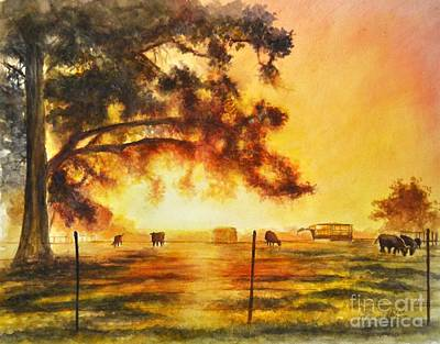 Painting - Peaceful Farm by Allison Ashton