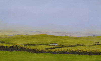 Painting - Peaceful Fields Of Ireland by Flo Markowitz