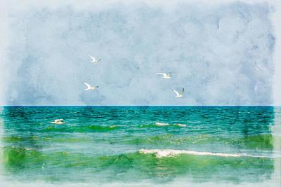 Digital Art - Peaceful Flight by Erwin Spinner