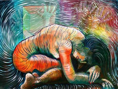 Peaceful Flow - Reclining Nude Art Print by Gideon Cohn