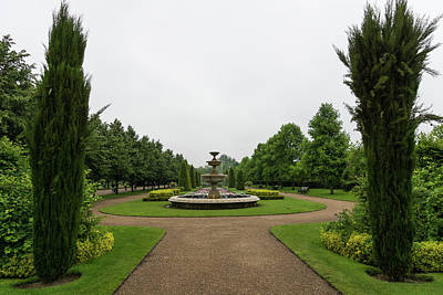 Photograph - Peaceful Gray Symmetry - A Rainy Day In Regents Park London U K by Georgia Mizuleva
