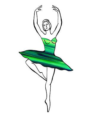 Painting - Peaceful Green Dance by Irina Sztukowski