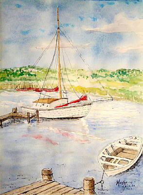 Painting - Peaceful Harbor by Marilyn Zalatan