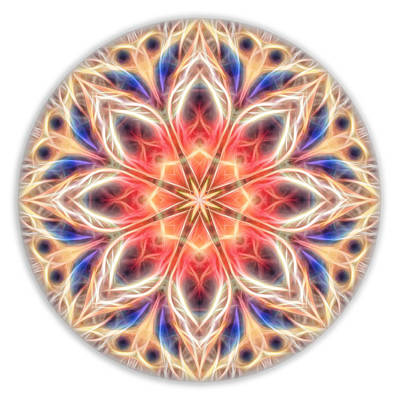Digital Art - Peaceful Heart Mandala by Beth Sawickie