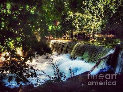Photograph - Peaceful Hideaway - The Waterfall by Miriam Danar