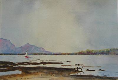 Painting - Peaceful Lagoon by Harold Kimmel