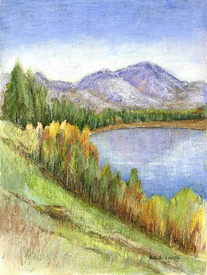 Mountain Mixed Media - Peaceful Lake by Arline Wagner