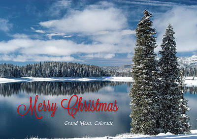 Photograph - Peaceful Lake Christmas Card by Roy Kastning