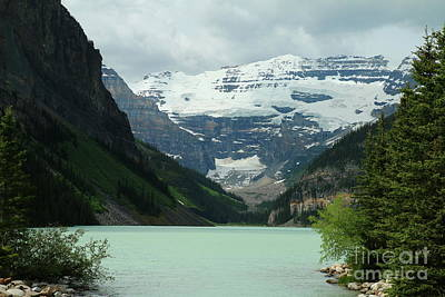 Photograph - Peaceful Lake Louise by Christiane Schulze Art And Photography