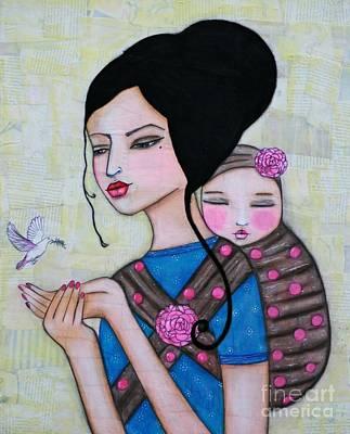 Painting - Peaceful Love by Natalie Briney