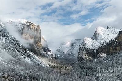Art Print featuring the photograph Peaceful Moments - Yosemite Valley by Sandra Bronstein