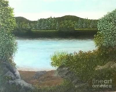Painting - Peaceful Morning. by Peggy Miller
