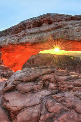 Photograph - Peaceful Morning - Sunrise At Mesa Arch - Moab Utah by Gregory Ballos