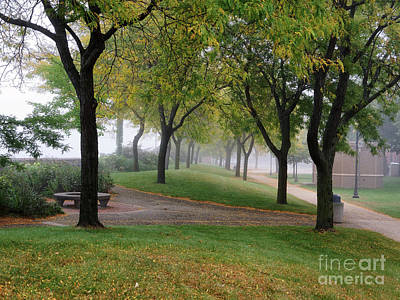 Photograph - Peaceful Morning Winona Minn Levee Park by Kari Yearous