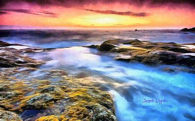 Seaside Digital Art - Peaceful Nature - Da by Leonardo Digenio